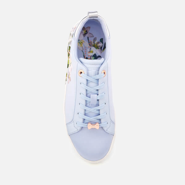 25ce9ce95784 Ted Baker Women s Orosa Floral Low Top Trainers - Graceful Blue  Image 3