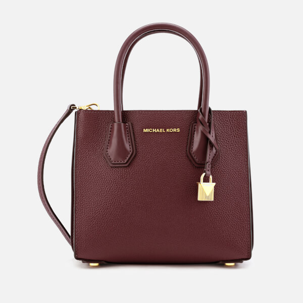 e938df71a002 MICHAEL MICHAEL KORS Women s Mercer Accordion Messenger Bag - Oxblood   Image 1