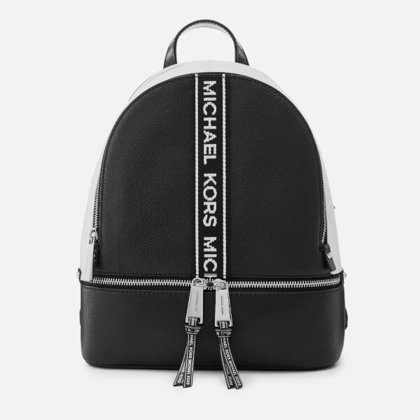 7a0008c2aa97 MICHAEL MICHAEL KORS Women s Rhea Zip Backpack - Black White  Image 1