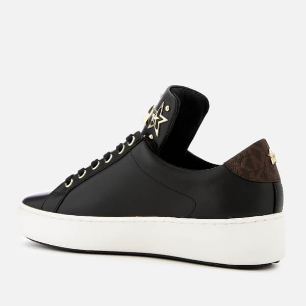 5746bba3553 MICHAEL MICHAEL KORS Women s Mindy Leather Low Top Trainers - Black Brown   Image 2