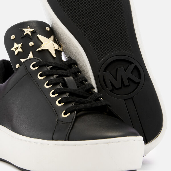202380cf4fb MICHAEL MICHAEL KORS Women s Mindy Leather Low Top Trainers - Black Brown   Image 4