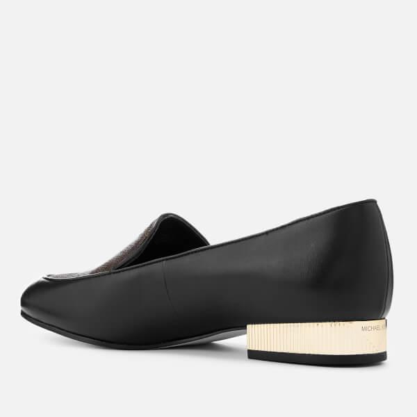 9ff01fc6f51 MICHAEL MICHAEL KORS Women s Valerie Slip-On Flats - Black Brown  Image 2