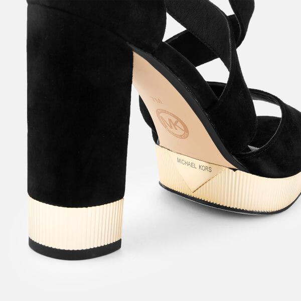 c4e1c8393ddb MICHAEL MICHAEL KORS Women s Valerie Platform Heeled Sandals - Black  Image  4