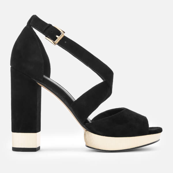 MICHAEL MICHAEL KORS Women's Valerie Platform Heeled Sandals - Black