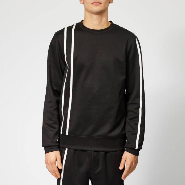 Helmut Lang Men's Sport Stripe Sweatshirt - Black/White