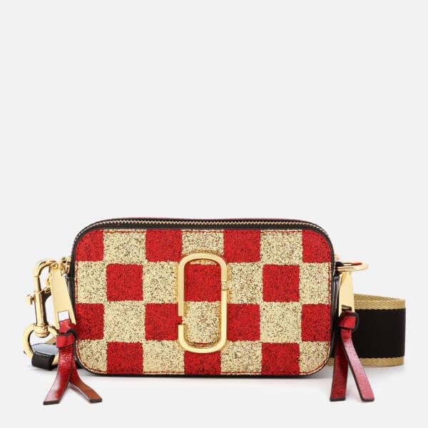 60804dba2695 Marc Jacobs Women s Snapshot Checkerboard Bag - Gold Multi  Image 1