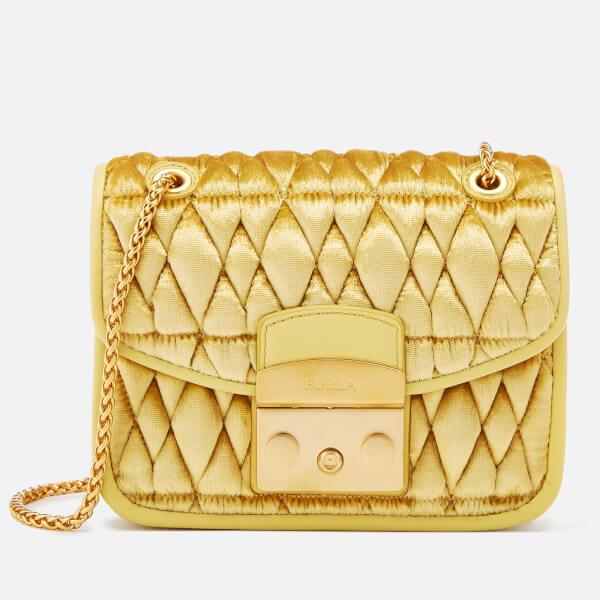 Furla Women's Metr.Com. Mini Cross Body Bag - Yellow