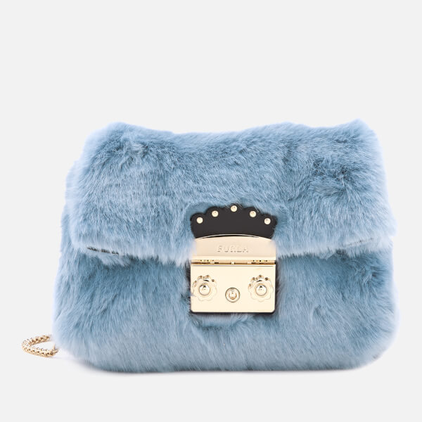 Furla Women's Metropolis Nuvola Mini Cross Body Bag - Light Blue