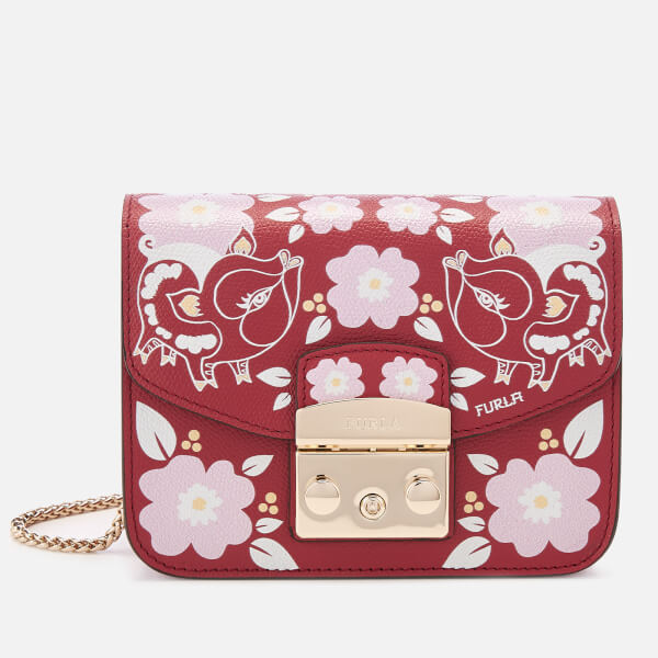 6b48f976f177 Furla Women's Metropolis Mini Cross Body Bag - Red: Image 1