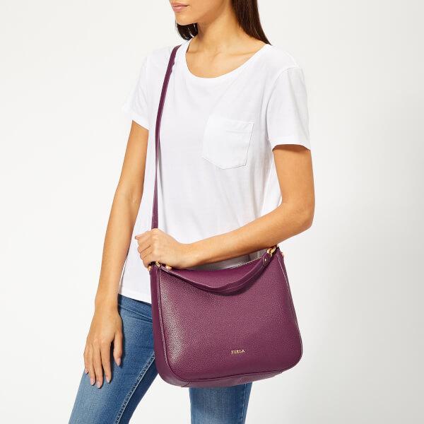 Furla Women s Cometa Medium Hobo Bag - Purple Womens Accessories ... f2b45417c7e3b
