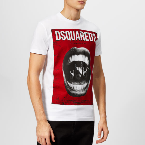 Dsquared2 Men's Mouth Print T-Shirt - White