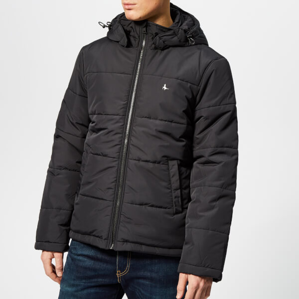 43774b50ec Jack Wills Men s Breckwood Puffer Jacket - Black Clothing