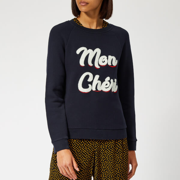 Whistles Women's Mon Cheri Embroidered Sweatshirt - Navy