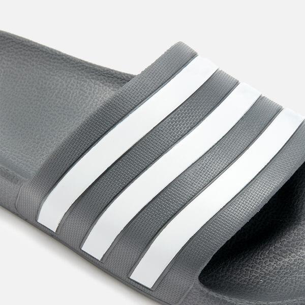 2da27600ce9 adidas Men s Adilette Aqua Slide Sandals - Grey Three Sports ...