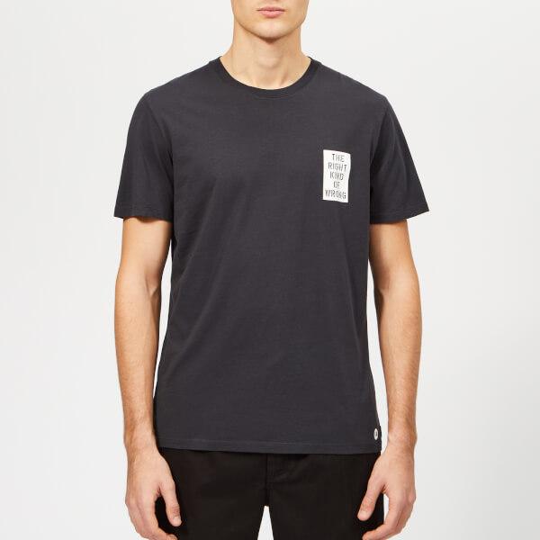 Folk Men's AB Right Wrong T-Shirt - Navy