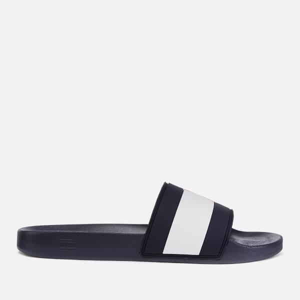 94161fed Tommy Hilfiger Men's Essential Flag Pool Slide Sandals - Red/White/Blue:  Image