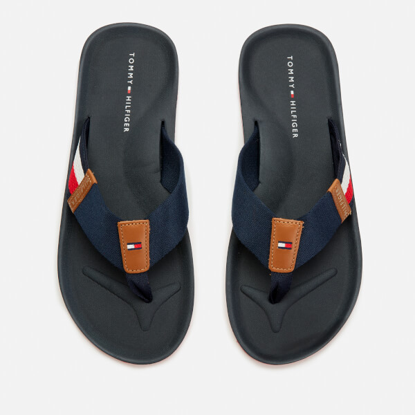 Tommy Hilfiger Men's Corporate Stripe Beach Sandals - Midnight