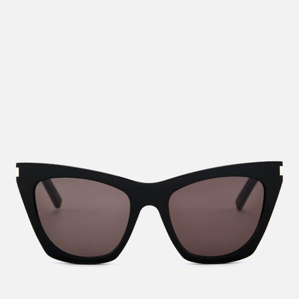 Saint Laurent Women's Cat-Eye Square Frame Sunglasses - Black