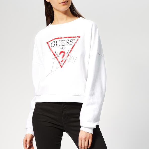 3a2e166c51aa9 Guess Women s Icon Sweater - True White Womens Clothing