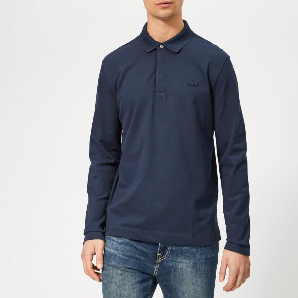 e1a15519049e Lacoste Men s Long Sleeve Paris Polo Shirt - Navy Clothing