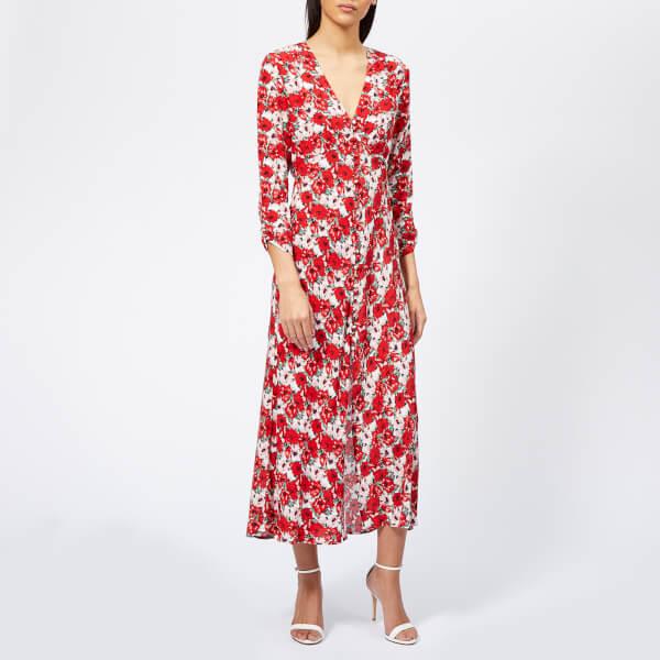 RIXO Women's Katie Diana Floral Maxi Dress - Red