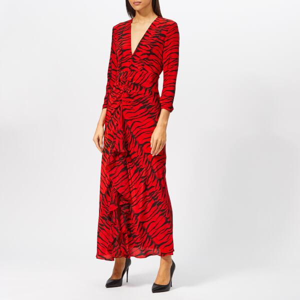 RIXO Women's Rose Tiger Maxi Dress - Rose Red