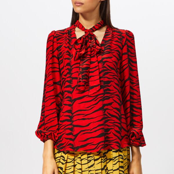 RIXO London Women's Moss Tiger Blouse - Moss Red