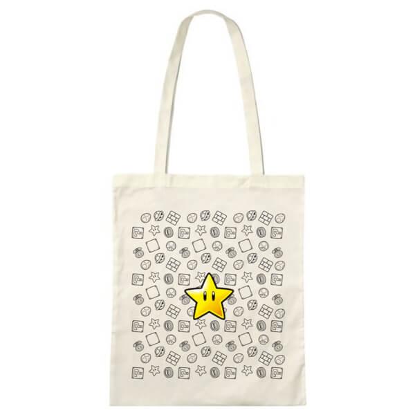 Super Mario Invincible Star Tote Bag