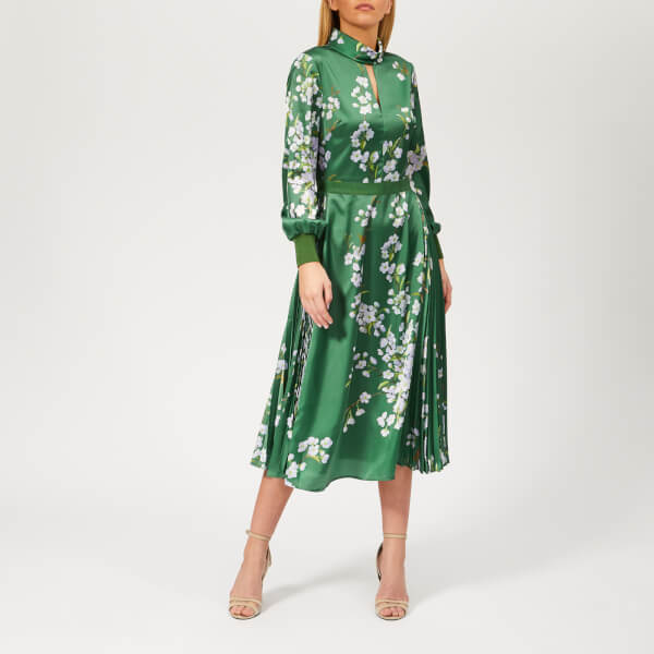 7993523257f1bd Ted Baker Women s Jhenni Graceful Print Midi Dress - Green Womens ...