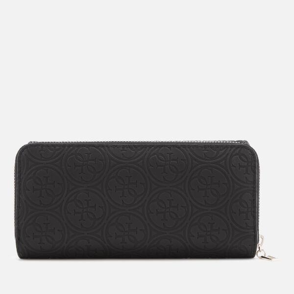 c63c6981ab Guess Women s Heritage Pop Large Clutch Bag - Black  Image 2