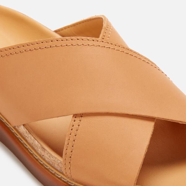 ab2d24850116 Clarks Women s Trace Drift Leather Cross Front Sandals - Light Tan  Image 4