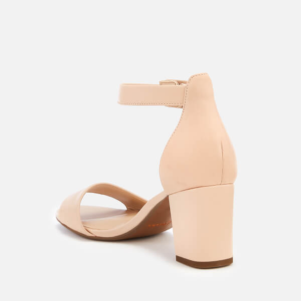 4dba98164a75 Clarks Women s Deva Mae Leather Block Heeled Sandals - Nude  Image 3