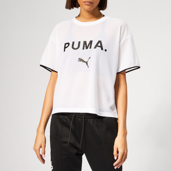 Puma Women's Chase Mesh Short Sleeve T-Shirt - Puma White