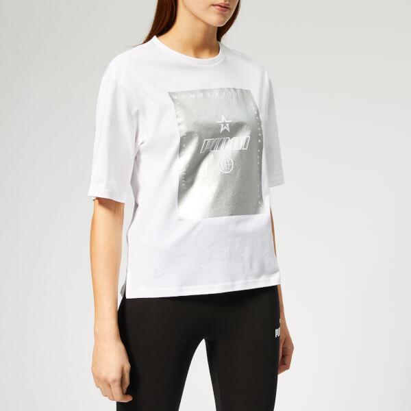 Puma Women's Tz Short Sleeve T-Shirt - Puma White