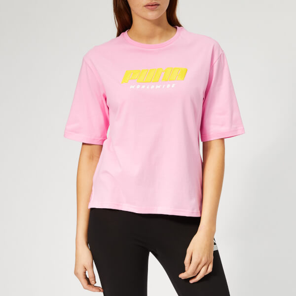 Puma Women's Tz Short Sleeve T-Shirt - Pale Pink