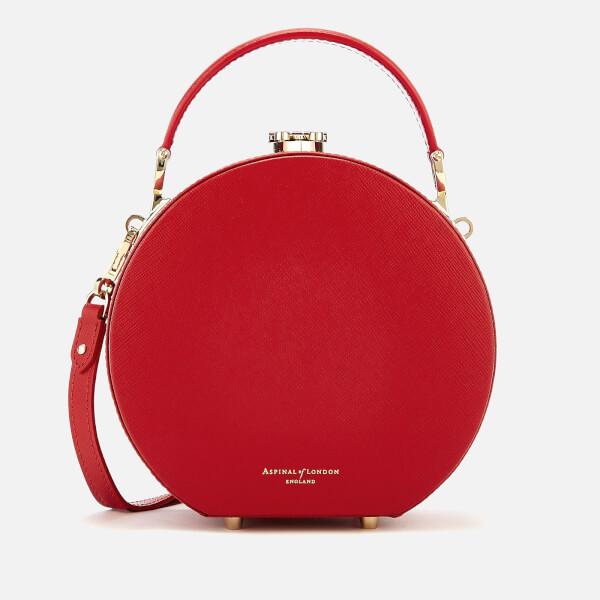 Aspinal of London Women's Hat Box - Mini (Slim Strap) - Scarlet