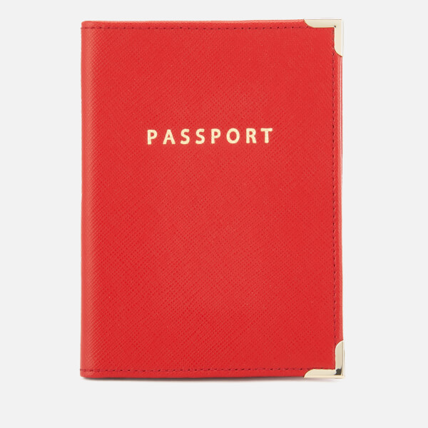 Aspinal of London Women's Passport Cover - Scarlet