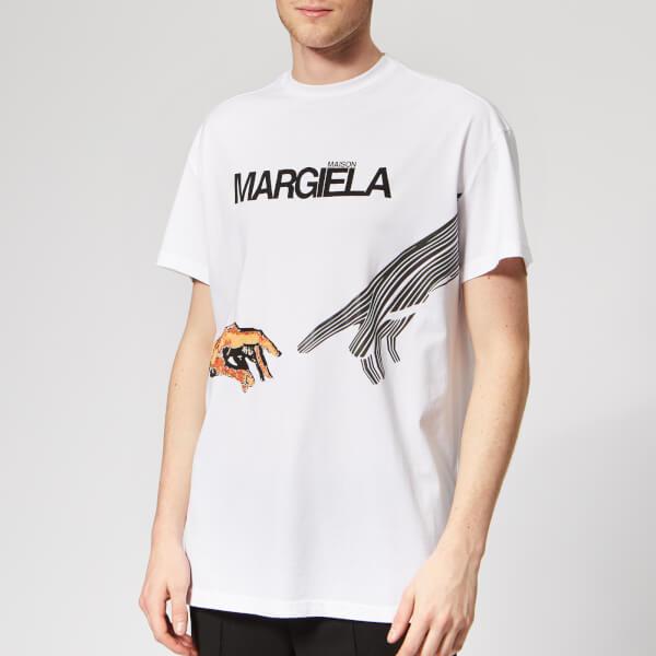 Maison Margiela Men's Mako Cotton Jersey T-Shirt - White