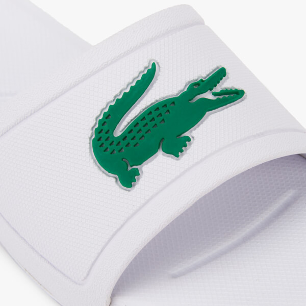 90b5ab877 Lacoste Kids  L.30 Slide 119 2 Sandals - White Green  Image