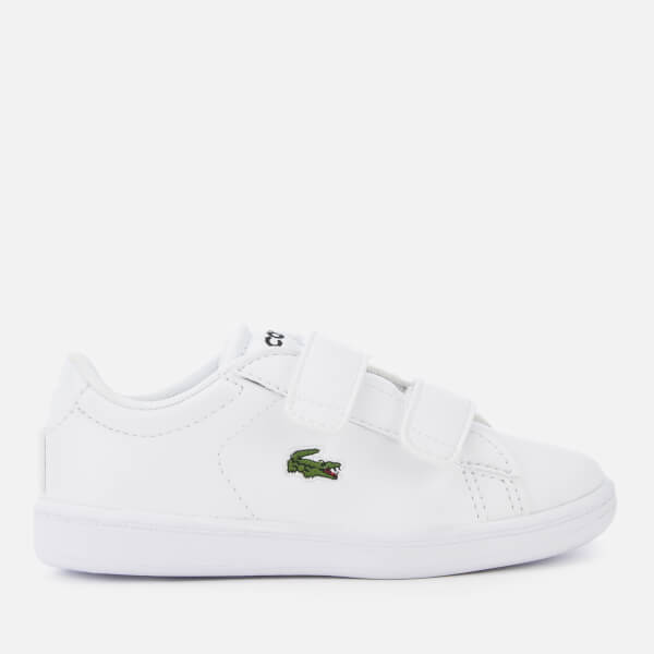 Lacoste Toddler's Carnaby Evo 119 7 Velcro Low Top Trainers - White/White