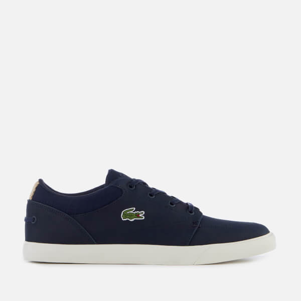 Lacoste Men's Bayliss 119 1 Leather Lace Up Trainers - Navy/Off White