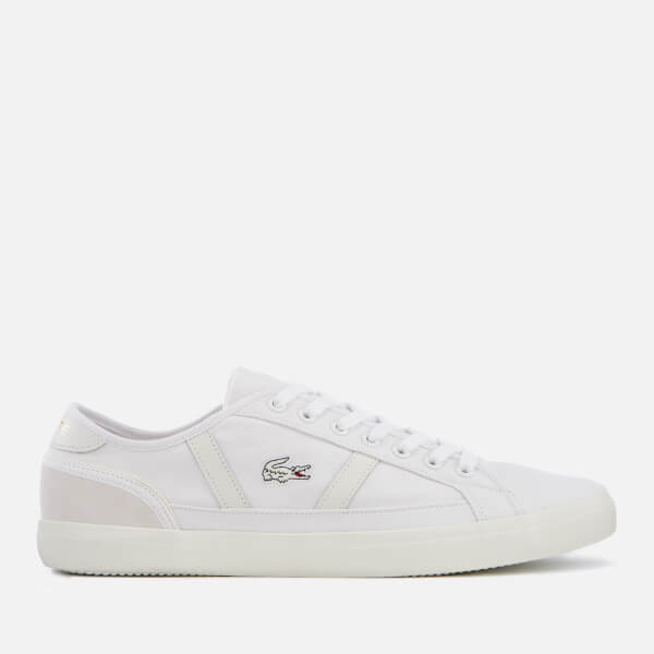 Lacoste Men's Sideline 119 1 Canvas Trainers - White/Off White