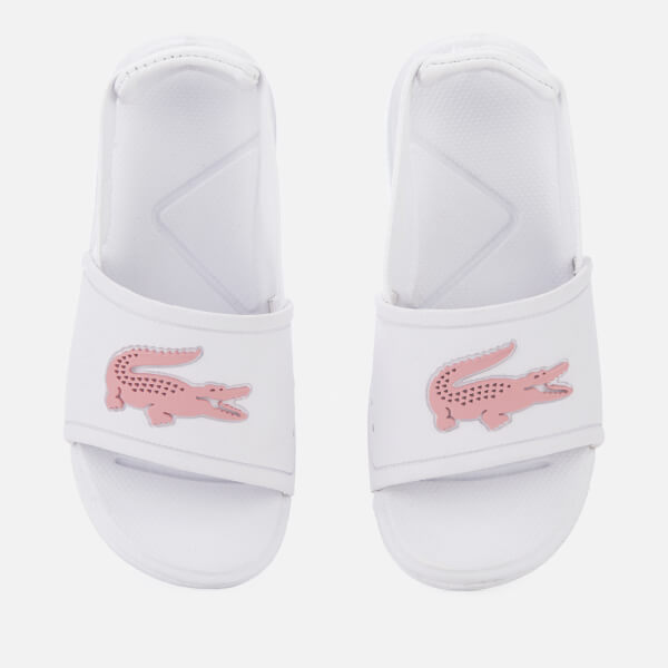 Lacoste Toddler's L.30 Slide 119 2 Sandals - White/Light Pink