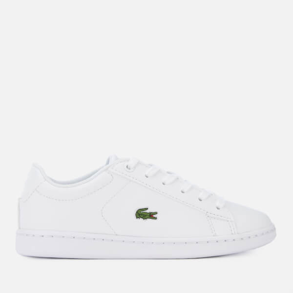 Lacoste Kids' Carnaby Evo 119 7 Low Top Trainers - White/White