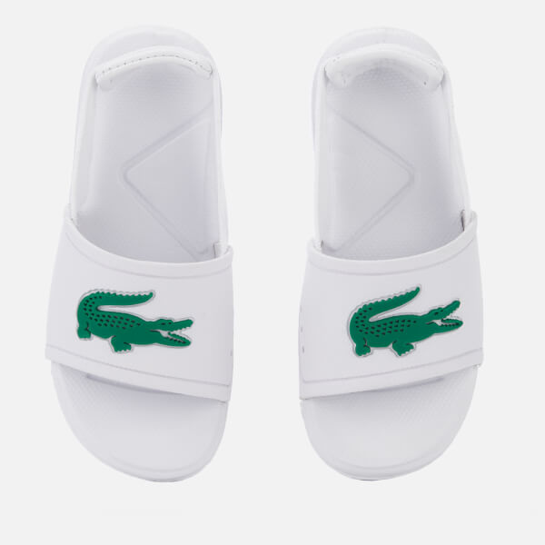 Lacoste Toddler's L.30 Slide 119 2 Sandals - White/Green