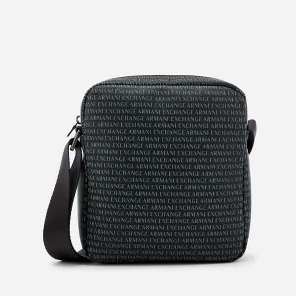 c727ed4bf15e Armani Exchange Men s Reporter Bag - Nero  Image 1