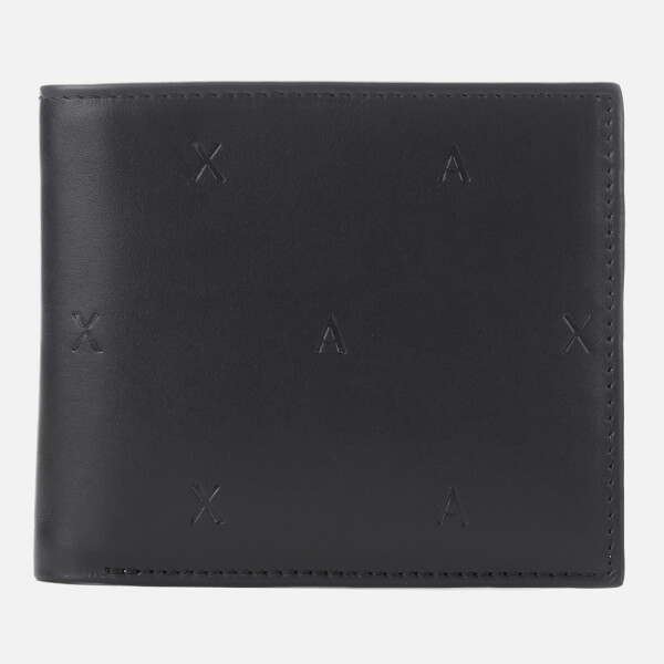 Armani Exchange Men's Bifold Coin Pocket Wallet - Nero