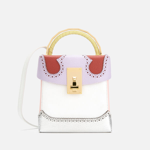 The Volon Women's Great L. Box Alice Bag - Purple & Brick