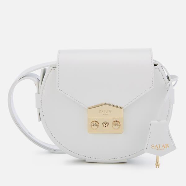 SALAR Women's Annie Basic Cross Body Bag - White