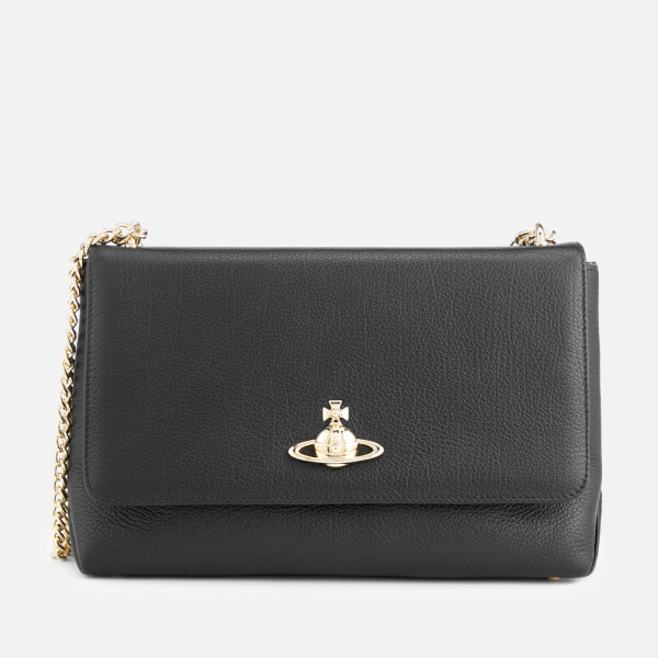 Vivienne Westwood Women's Balmoral Large Bag with Flap and Chain - Black